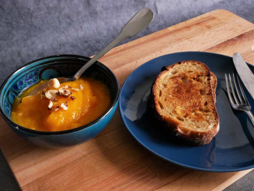 Une bonne soupe et un grilled cheese, le dîner parfait
