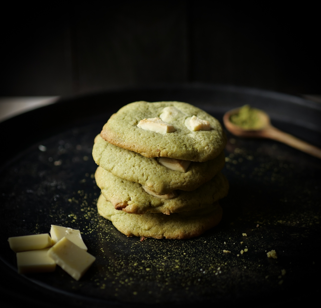Pile de cookie matcha
