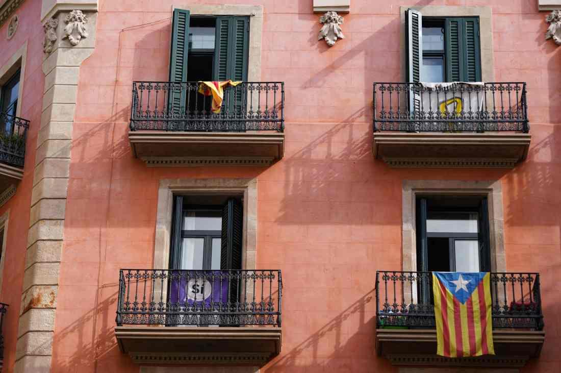 Les façades ocres de Barcelone.