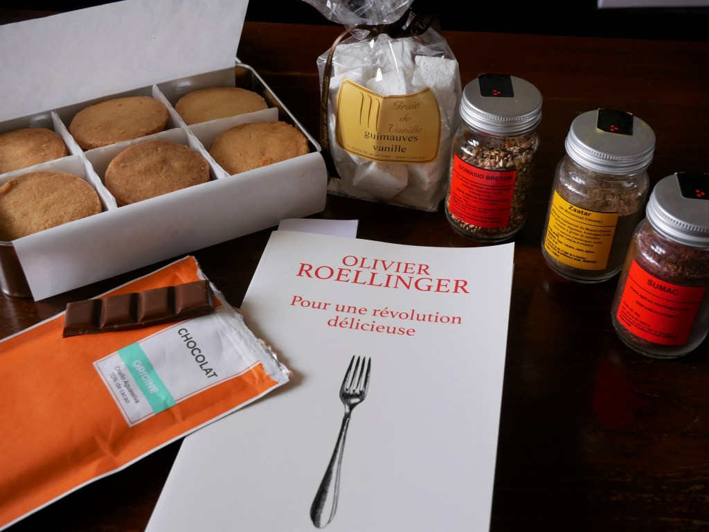 J'ai rapporté de Cancale des épices, du chocolat, des galettes et des guimauves de chez Roellinger et Grain de Vanille.