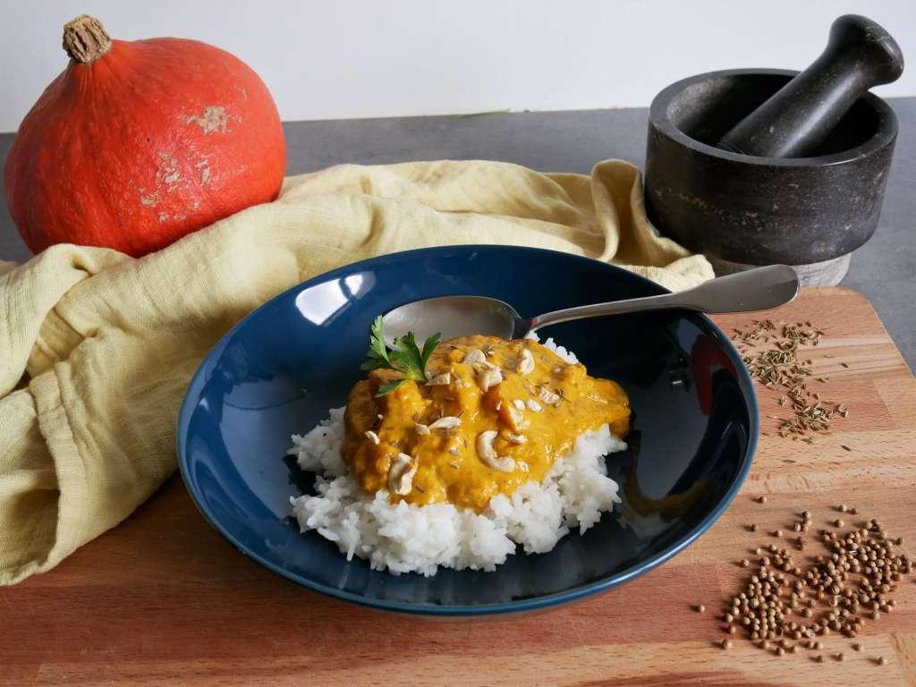 Un bn curry de potimarron, parfait pour l'hiver.