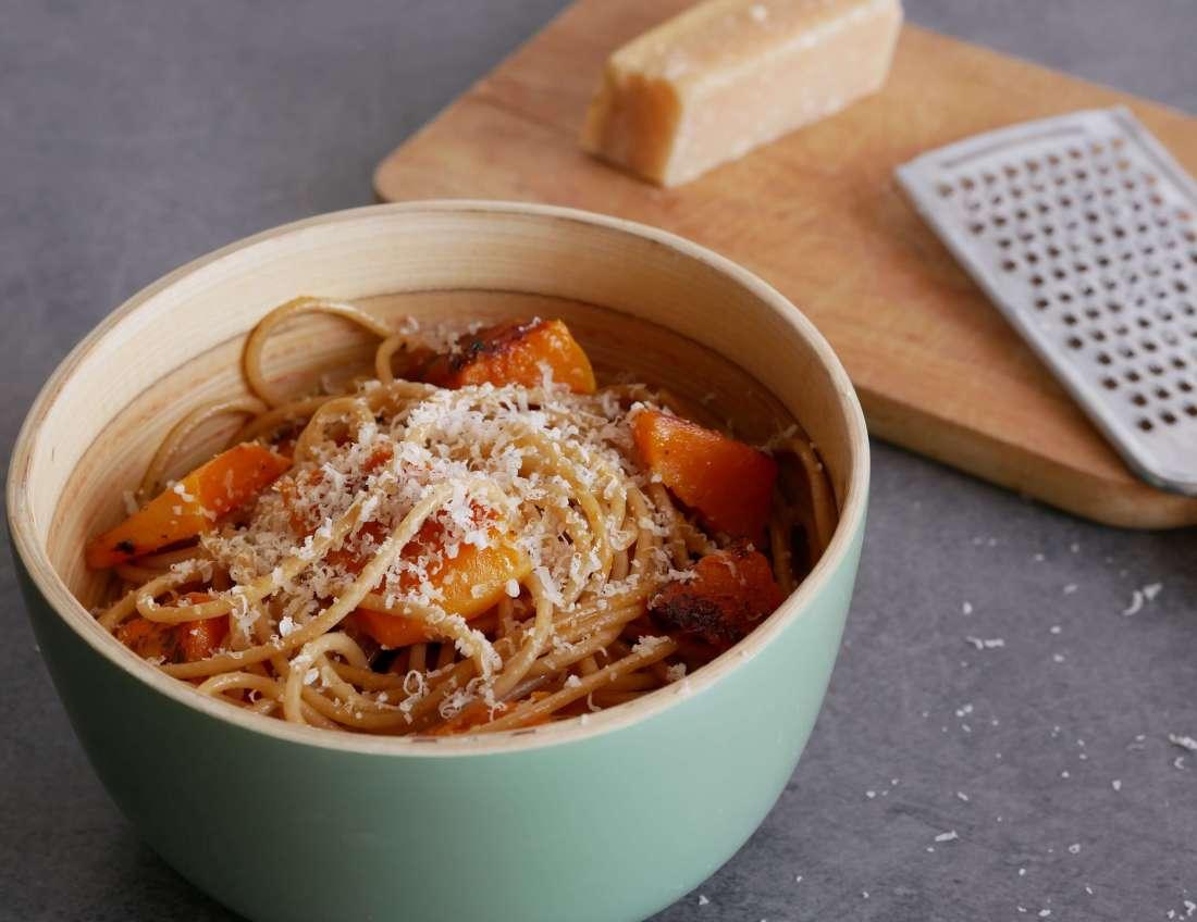 Spaghetti à la courge butternut et au parmesan