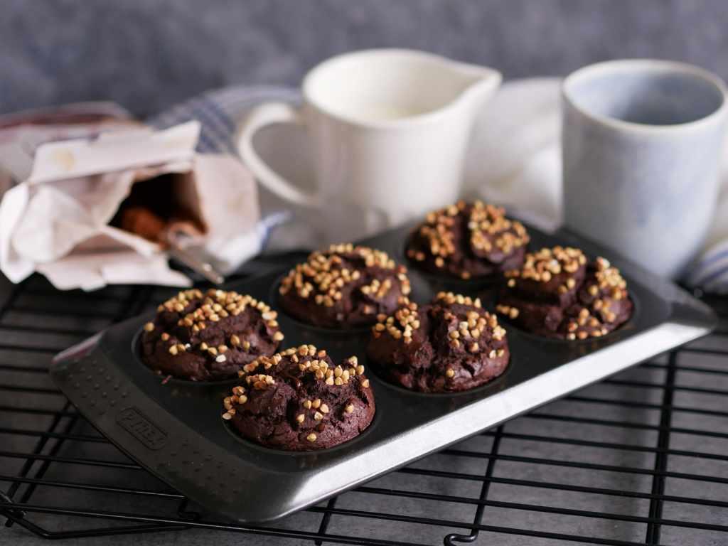 Humm des bons muffins avec un bon chocolat chaud sans les calories !