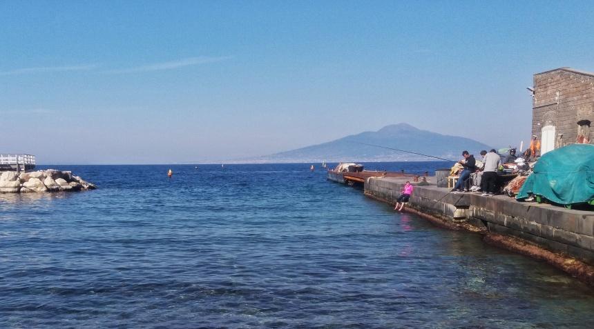 Le port de Sorrento en Campanie.
