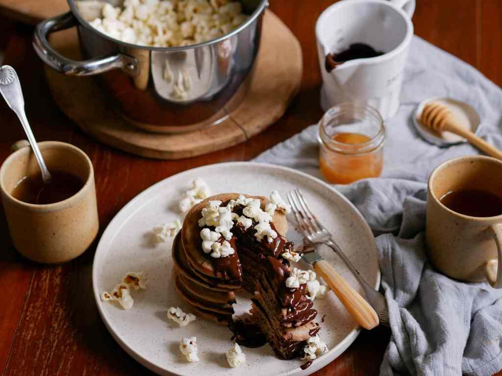 Crumpets au chocolat et au pop-corn
