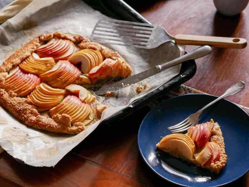 Tarte rustique aux pommes pour le goûter