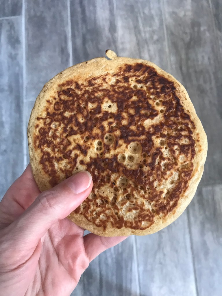 Petits trous sur le pancake