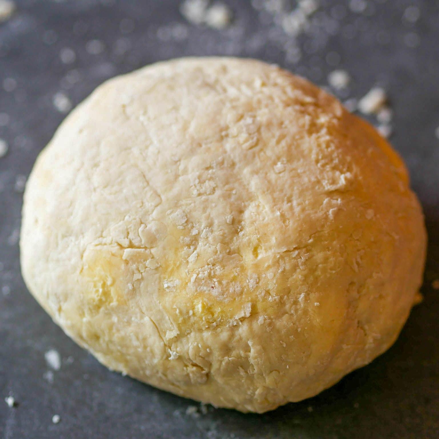 On forme une boule, c'est normal s'il reste des morceaux de beurre