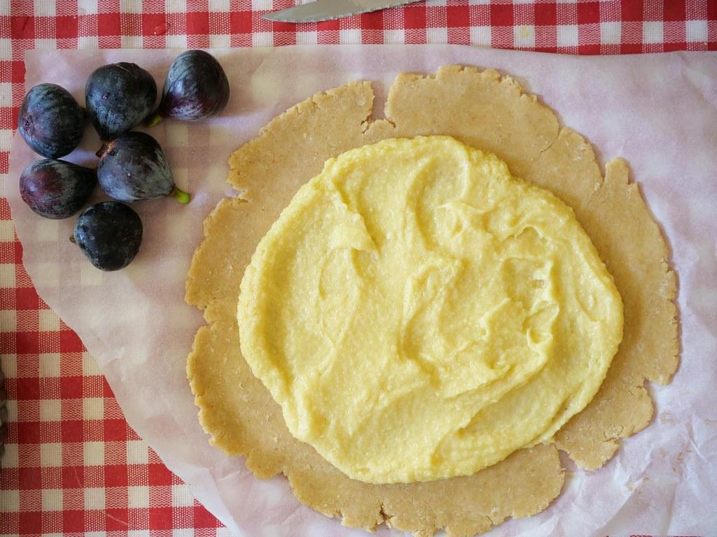 Pâte à tarte rustique avec crème d'amande