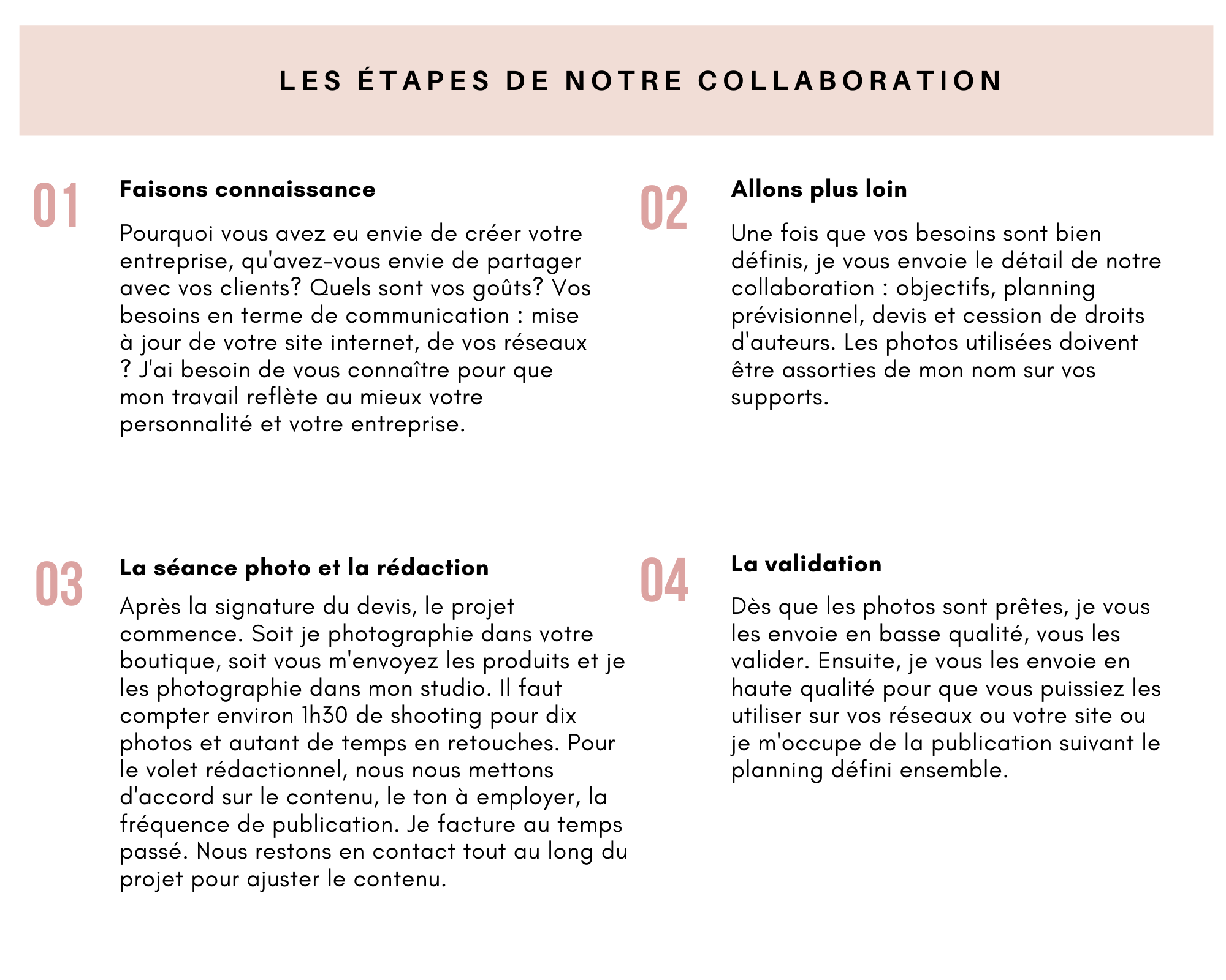 Page 4 etape de la collaboration