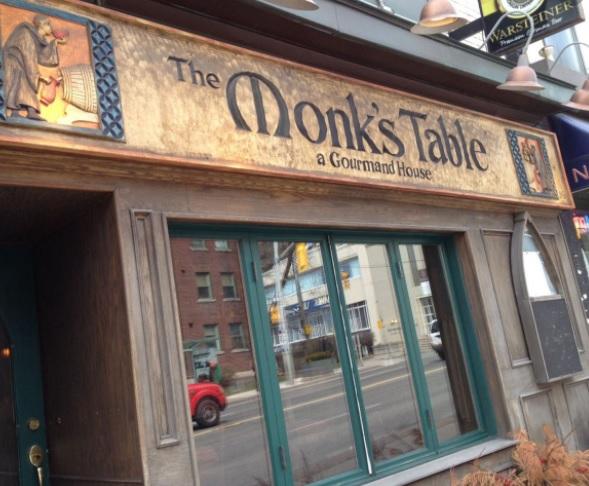 The Monk's table, mon pub préféré à Toronto.