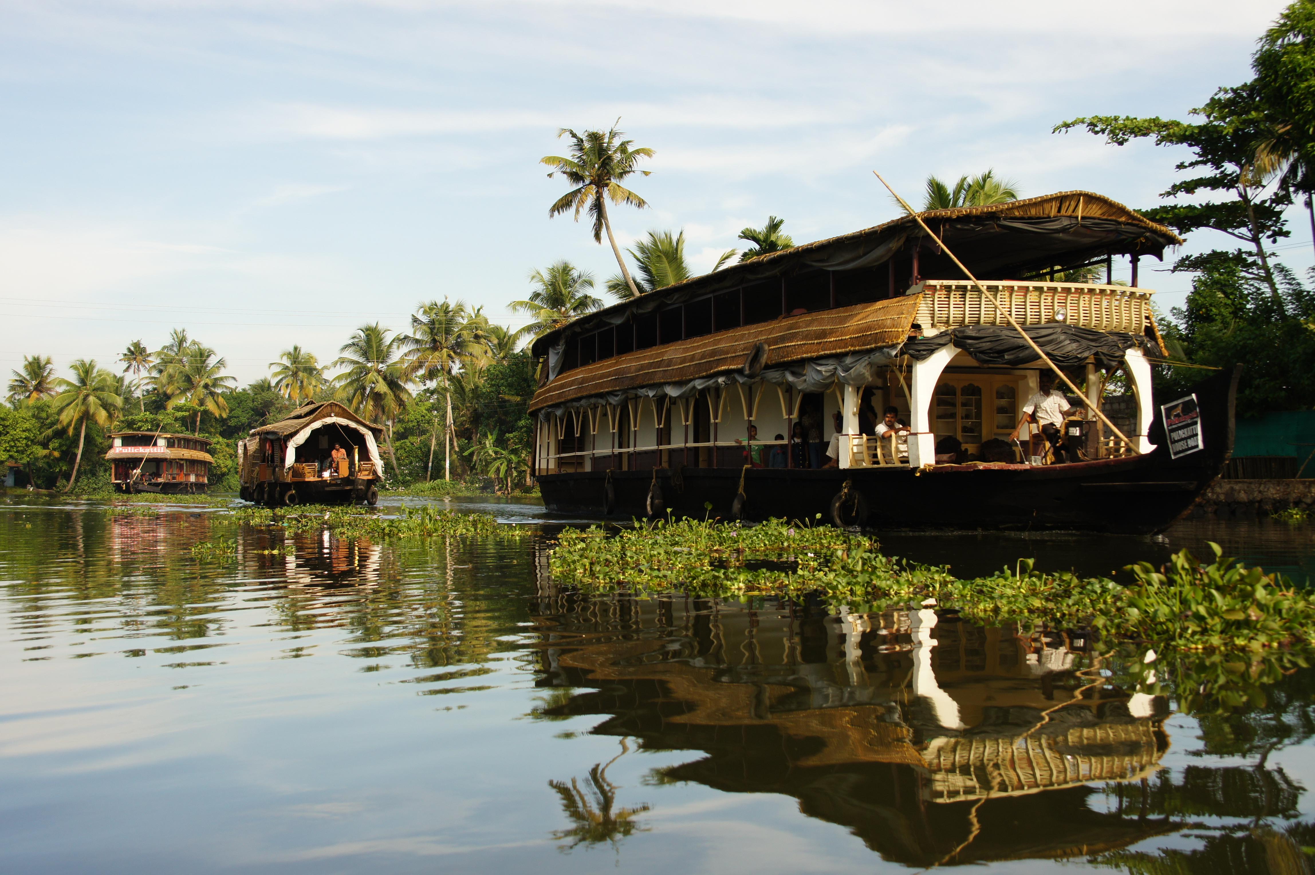 Croisière dans le Kerala, dans le sud ouest de l'Inde, une région beaucoup plus tranquille qu'au Nord.