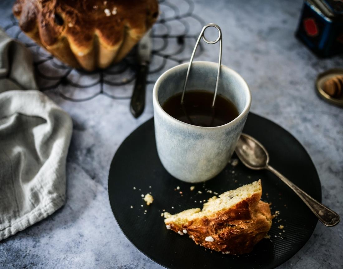 Un cramique, un thé noir, le combo parfait !