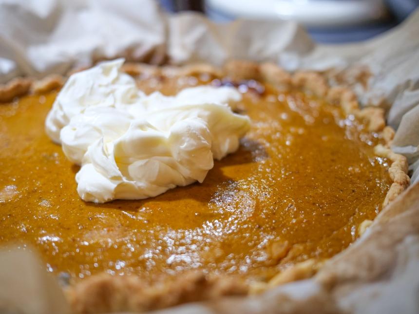 Une pumpkin pie pour enterrer l'hiver et faire venir le printemps !